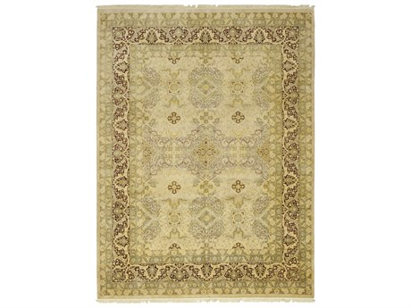Solo Rugs Oushak Beige 9'2'' x 12'2'' Rectangular Area Rug SOLM128549