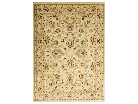 Solo Rugs Oushak Beige 9'9'' x 13'6'' Rectangular Area Rug SOLM1326245