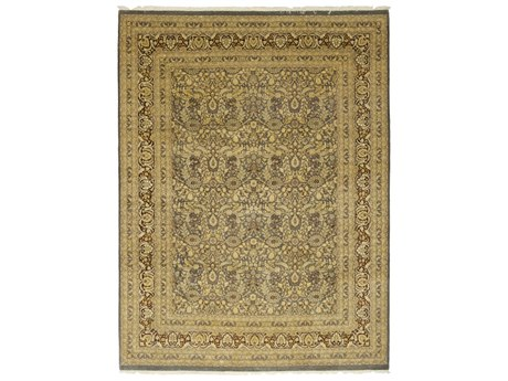 Solo Rugs Oushak Beige 9'2'' x 12'3'' Rectangular Area Rug SOLM135957