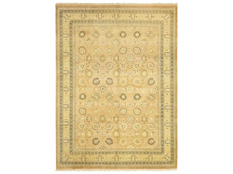 Solo Rugs Oushak Beige 10'1'' x 14'3'' Rectangular Area Rug SOLM1230088