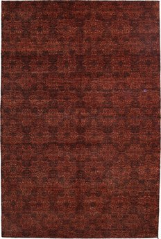 Solo Rugs Savannah Red Rectangular Area Rug SOLM582122
