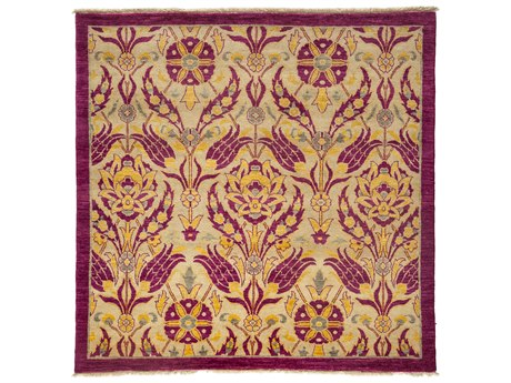Solo Rugs Suzani Pink 5'3'' x 5'4'' Square Area Rug
