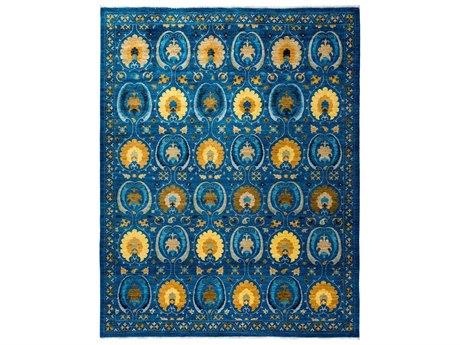 Solo Rugs Suzani Blue 8'2'' x 10'7'' Rectangular Area Rug