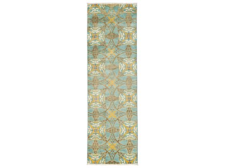 Solo Rugs Suzani Blue 3'3'' x 10'1'' Runner Rug