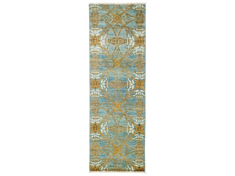 Solo Rugs Suzani Blue 2'7'' x 7'9'' Runner Rug