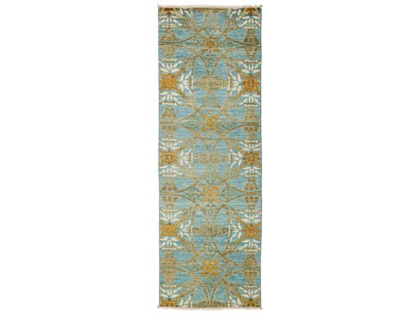 Solo Rugs Suzani Blue 2'7'' x 8'3'' Runner Rug