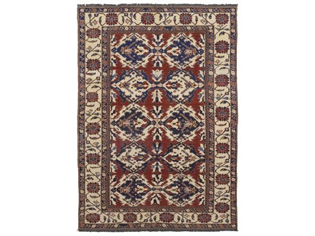 Solo Rugs Tribal Red 7'2'' x 10'1'' Rectangular Area Rug SOLM1218012
