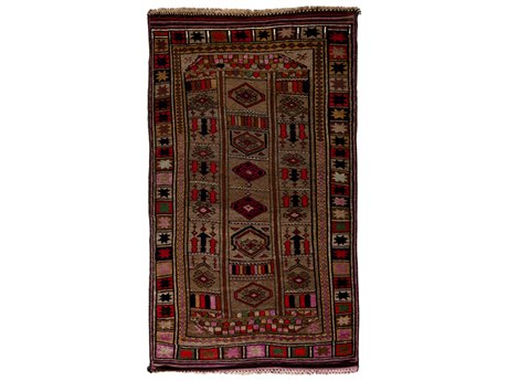 Solo Rugs Tribal Brown 5'5'' x 9'3'' Runner Rug