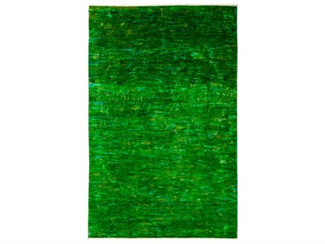 Solo Rugs Vibrance Green Rectangular Area Rug SOLM183797