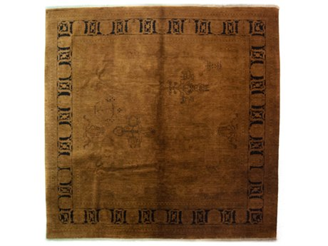 Solo Rugs Vibrance Brown 8'10'' x 9'1'' Rectangular Area Rug SOLM1602313