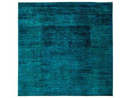 Solo Rugs Vibrance Blue 8'2'' x 8'2'' Square Area Rug