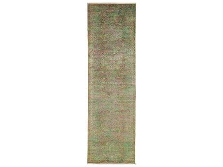 Solo Rugs Vibrance Green 3'2'' x 10'5'' Runner Rug