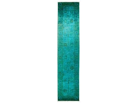 Solo Rugs Vibrance Green 3' x 13'10'' Runner Rug