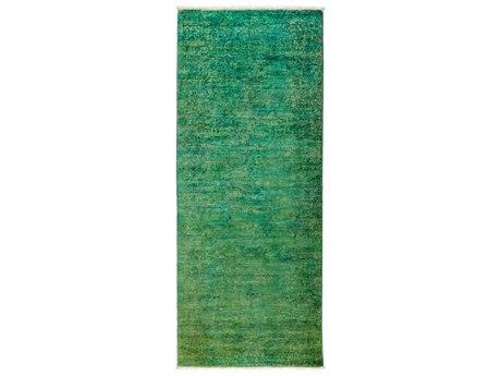 Solo Rugs Vibrance Green 3'1'' x 7'10'' Runner Rug