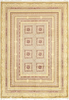 Solo Rugs Ziegler Ivory Rectangular Area Rug SOLM845031