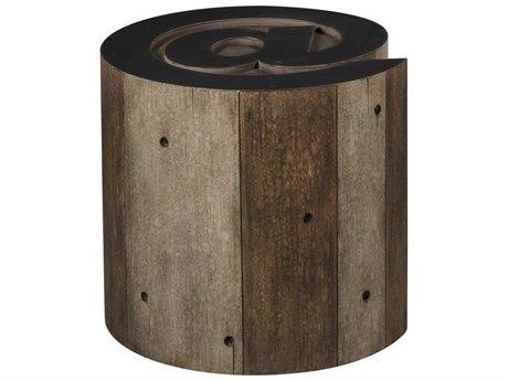 Sonder Distribution Andrew Martin Brown / Black 18'' Wide Round Drum Table