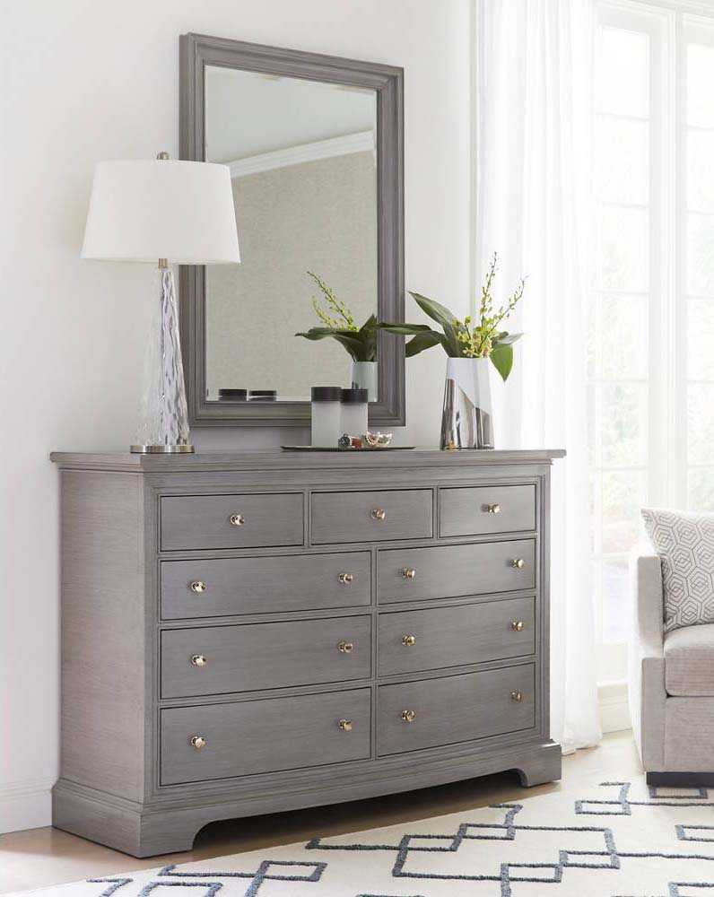 Stanley Furniture Transitional Dresser Amp Mirror Set