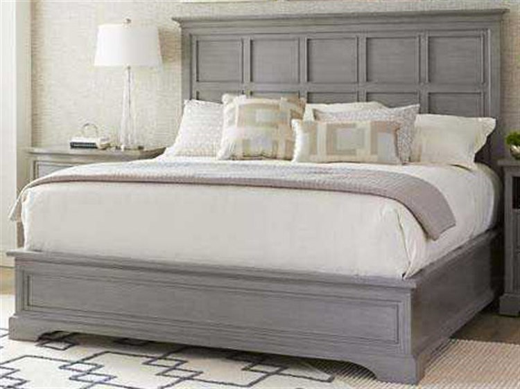 new products 3c7ed b089b Stanley Furniture Transitional Estonian Grey King Panel Bed