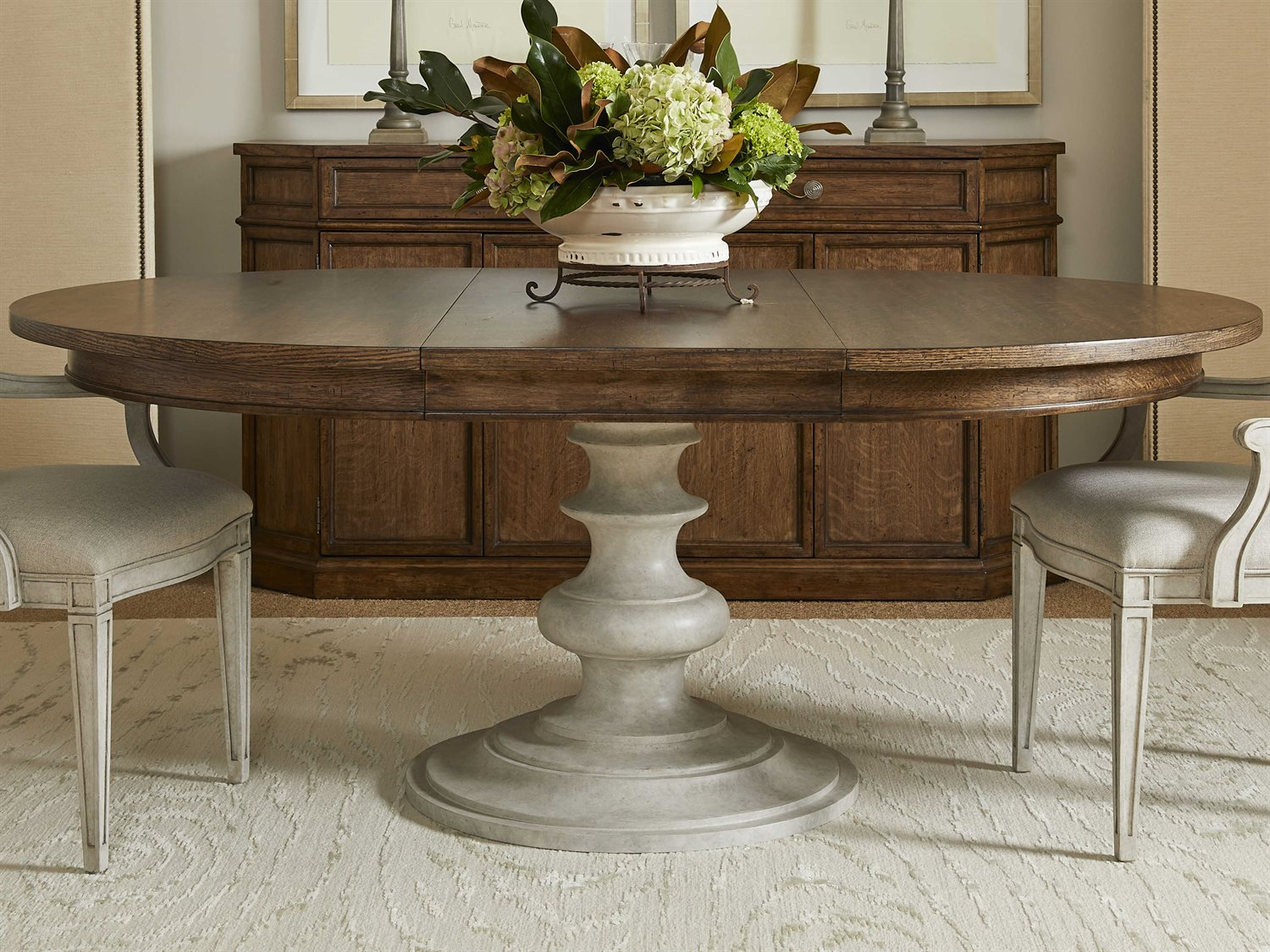 Stanley Furniture Hillside 54 Wide Round Dining Table