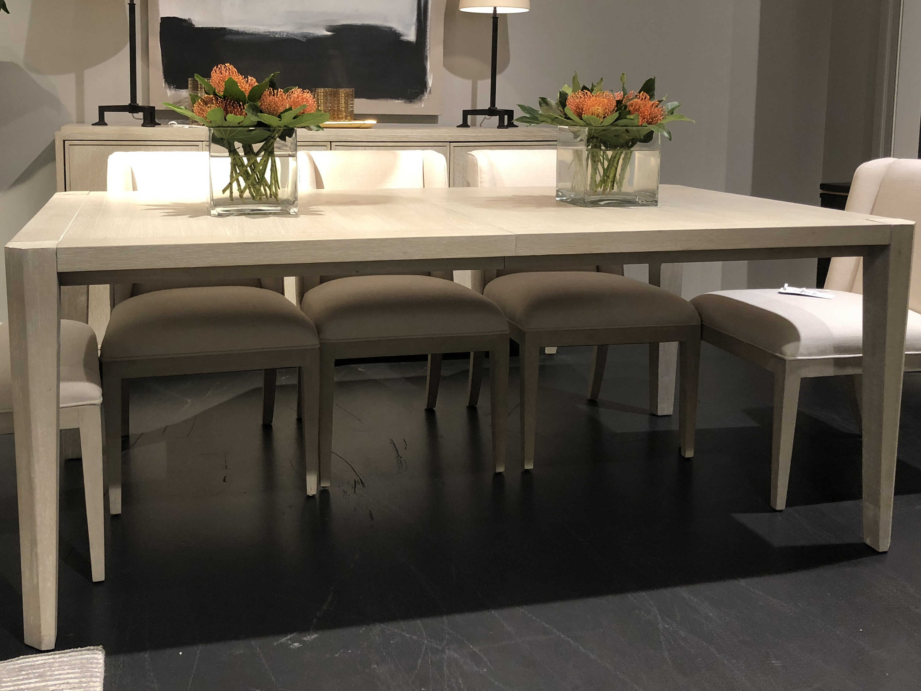 Wide Rectangular Dining Table