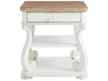 Stanley Furniture Juniper Dell 17th Century White 26''L x 28''W Rectangular End Table SL6152509