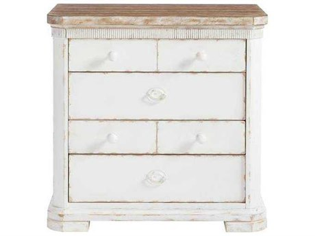 Stanley Furniture Juniper Dell 17th Century White 30''W x 19''D Rectangular Nightstand SL6152380