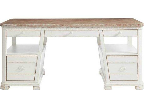 Stanley Furniture Juniper Dell 17th Century White 66''L x 34''W Rectangular Writing Desk SL6152503