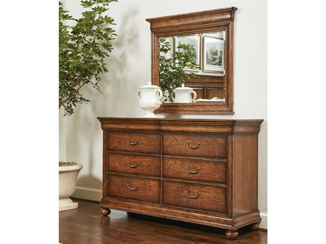Stanley Furniture Louis Philippe Double Dresser with Mirror SL0584305SET