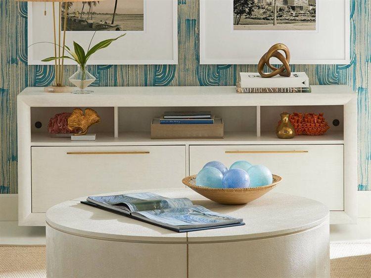Stanley Furniture Panavista Alabaster 72u0027u0027W X 20u0027u0027D Panorama Media Console