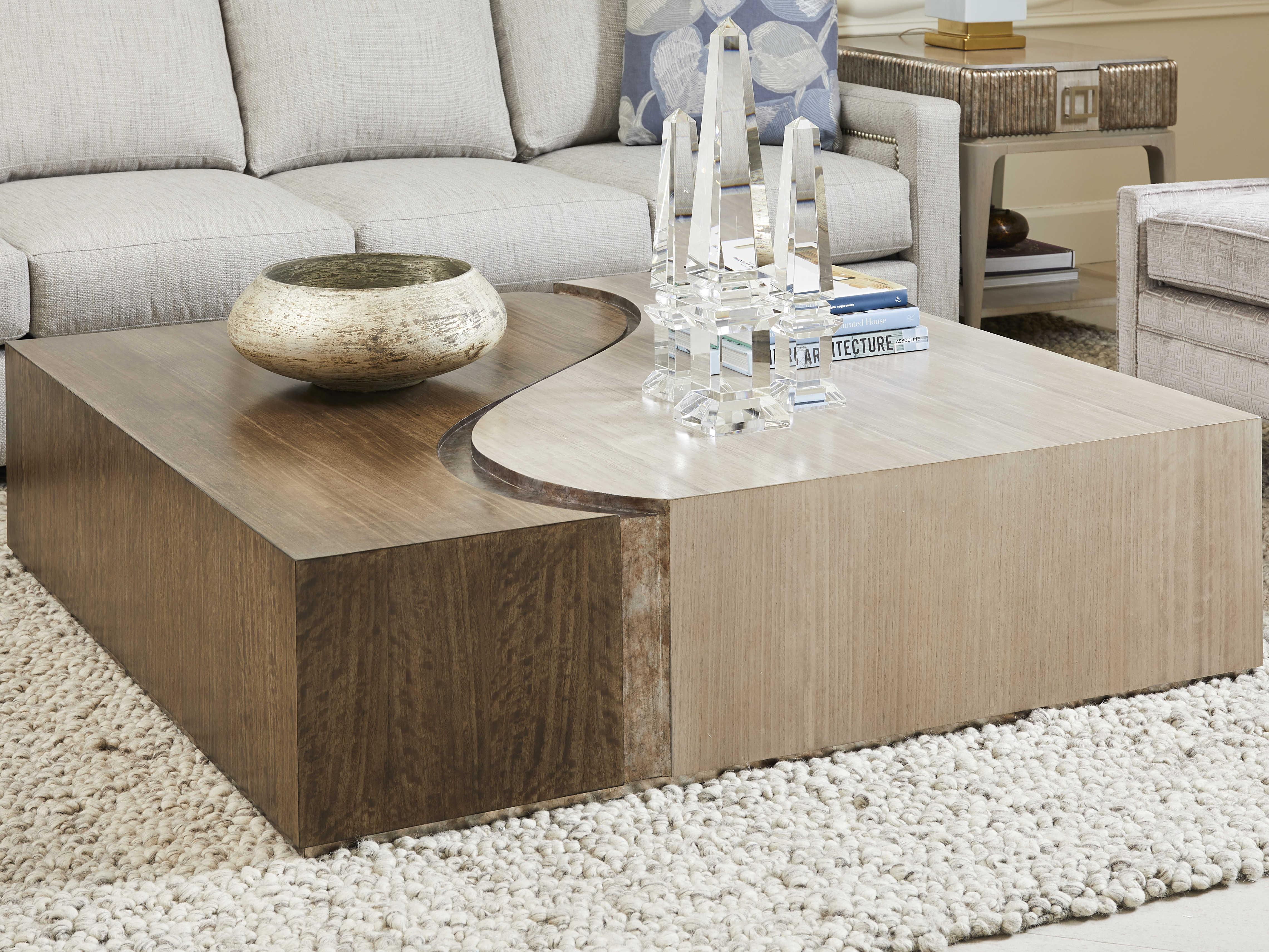Stanley Furniture Revival 54 Wide Square Coffee Table