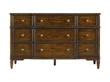 Stanley Furniture Vintage Bedroom Nine-Drawers Triple Dresser