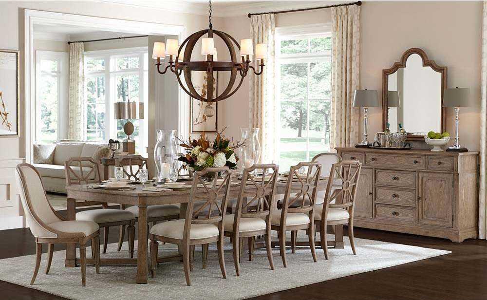 stanley furniture dining room set | Stanley Furniture Wethersfield Estate Dining Room Set ...