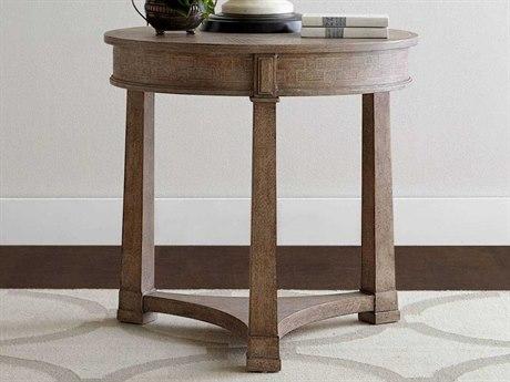 Stanley Furniture Wethersfield Estate Brimfield Oak 28.5'' Round Lamp Table