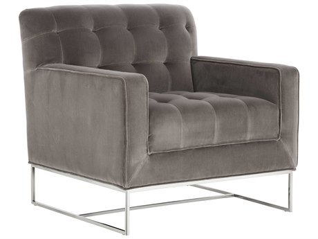 Sunpan Alexandria Polished Stainless Steel Club Chair SPN100976