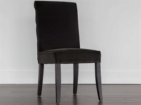 Sunpan Baron Espresso Giotto Shale Grey / Side Dining Chair SPN103174