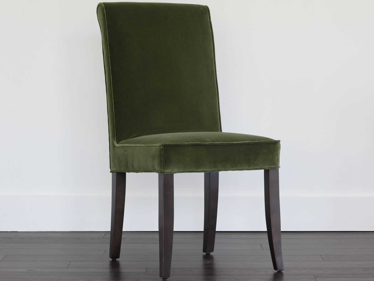 Sunpan Baron Espresso Giotto Olive Side Dining Chair