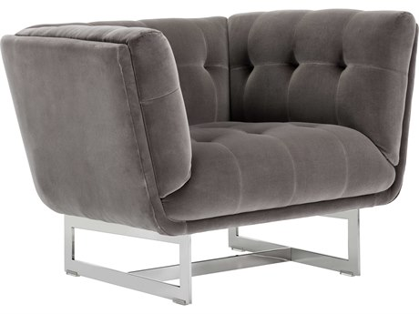 Sunpan Centennial Polished Stainless Steel Accent Chair SPN101509