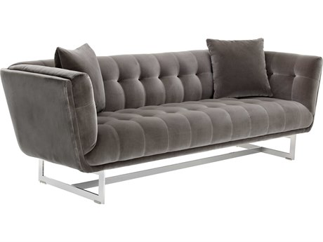 Sunpan Centennial Polished Stainless Steel Giotto Grey / Sofa Couch SPN101510