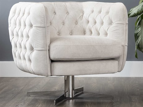 Sunpan Darla Brushed Stainless Steel Accent Chair