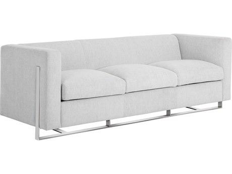 Sunpan Keaton Polished Stainless Steel Hemingway Marble / Sofa Couch SPN101293