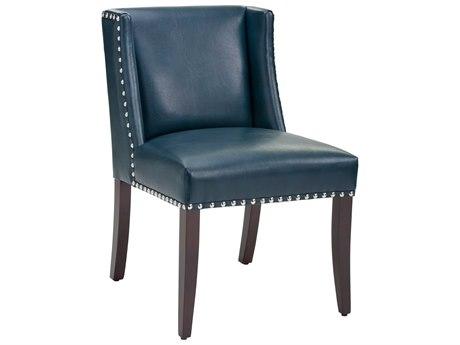 Sunpan Marlin Espresso Nobility Blue / Side Dining Chair SPN100300