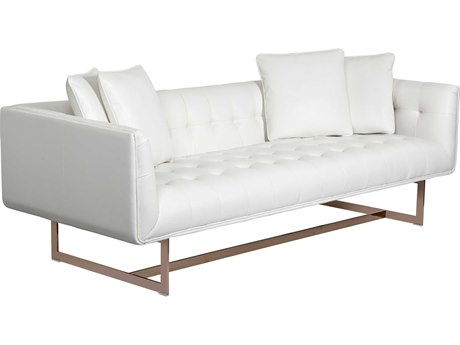 Sunpan Matisee Rose Gold Nobility White / Sofa Couch SPN100620