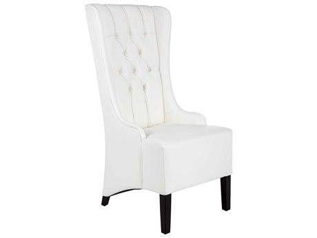 Sunpan Napa Espresso Nobility White / Side Dining Chair SPN100742
