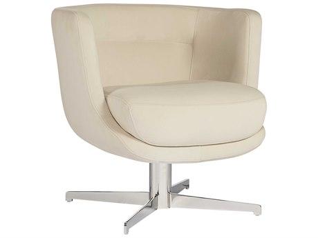 Sunpan Prissy Polished Stainless Steel Swivel Club Chair SPN103109