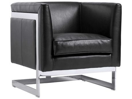 Sunpan Soho Polished Stainless Steel Accent Chair