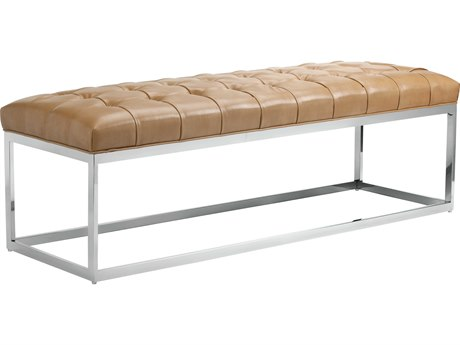 Sunpan Sutton Polished Stainless Steel Nobility Peanut / Accent Bench