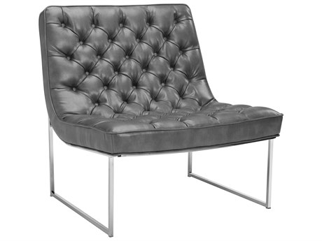 Sunpan Toro Polished Stainless Steel Accent Chair SPN100115