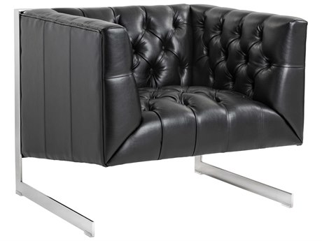 Sunpan Viper Polished Stainless Steel Accent Chair