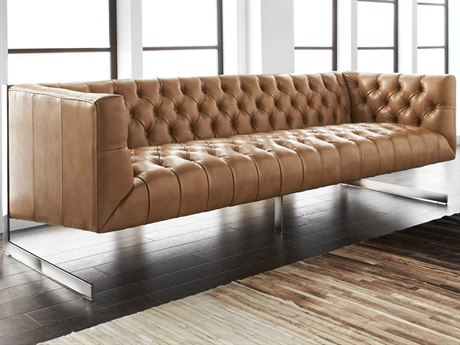 Sunpan Viper Polished Stainless Steel Nobility Peanut / Sofa Couch