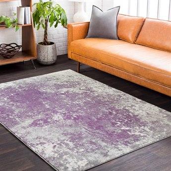 Surya Aberdine Medium Gray / Dark Purple Cream Rectangular Area Rug
